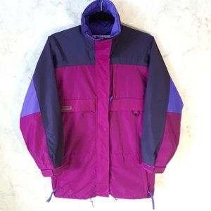 Vintage Columbia Colour Block Windbreaker Jacket S